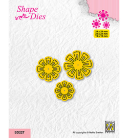 Nellie`s Choice - SD227 - Set of 3 Flowers-6