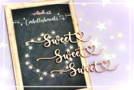 Memory Place Sweet Embellishment Chipboard (3pcs) (MP-60558)