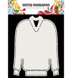 Dutch Doobadoo - 470713736 - Card Art Christmas sweater