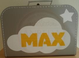 30 cm zilver Koffertje ~ Max