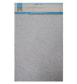 Marianne D Paper CA3142 - Soft Glitter paper - Silver
