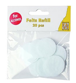 Nellie`s Choice - SIAP006 - Refill felts round for IAP006 (20 pcs/polybag)