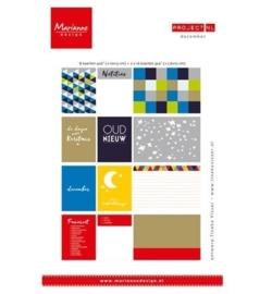 PL2506 Marianne Design Project Life Cards set December