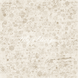 Maja Design - Vintage Frost Basics - 12 x 12 Double Sided Paper - 19th of December