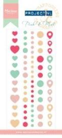 Marianne D Enamel stickers Roze & Mint PL4504