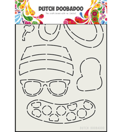 Dutch Doobadoo - 470.713.801 - DDBD Card Art Built up Bear Zomer