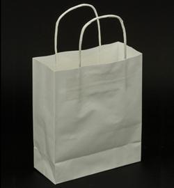 Papieren draagtas met gedraaide handgrepen Wit - Middel