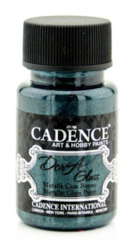 Cadence Dora Glas & Porselein verf Metallic Petrolium 01 013 3140 0050 50 ml