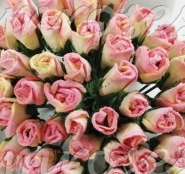 Tiny Rose Buds - Pink Cream