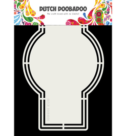 Dutch Doobadoo - 470713175 - Shape Art label Circle with Square
