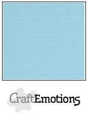 CraftEmotions linnenkarton licht blauw 27x13,5cm 250gr