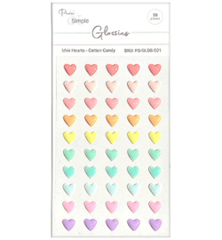 Pure & Simple - PS-GLOS-001 - Mini Hearts, Cotton Candy