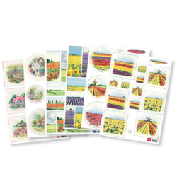 Marianne D Knipvel IT603 - Tiny's Flower decoupage set