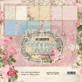 Craft&You Vintage Time Small Paper Pad 6x6 36 vel
