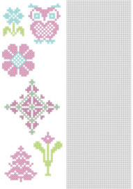Nellie`s Choice CrossCraft Pattern-5 Flowers CCPAT005 A4