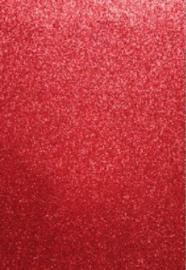 EVA foam vellen 2mm 22x30cm 5 st Rood glitter 12315-1534