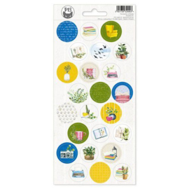 Piatek13 - Sticker sheet Garden of Books 03 P13-GAR-13 10,5x23cm