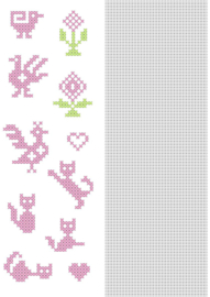 Nellie`s Choice CrossCraft Pattern-6 Small animals CCPAT006 A4