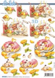 Le Suh 3D knipvel gebak ijs pudding 8215.604
