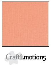 CraftEmotions linnenkarton zalm 30,5x30,5cm