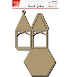 Noor! Design - 6005/0006 - Polybesa stencil - Noor - Lantaarn