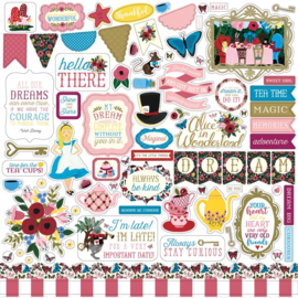 Echo Park Alice in Wonderland 12x12 Inch Sticker Sheet