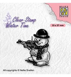 Nellie`s Choice - WT009 - Snowman with violin
