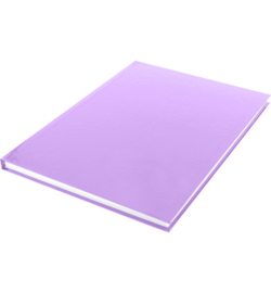 15583 - Dummyboek, blanco hard cover, violet pastel