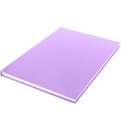15583 - Dummyboek, blanco hard cover, violet pastel