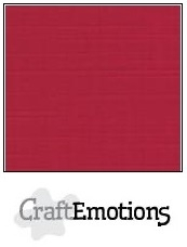 CraftEmotions linnenkarton kerstrood 30,5x30,5cm