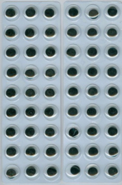 Wiebelogen zelfklev. rond zwart wit 12 mm 54 ST