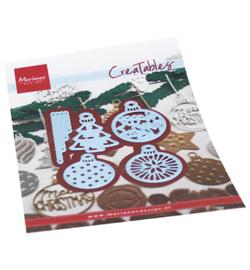 Marianne D Creatables LR0682 - Merry Christmas baubles
