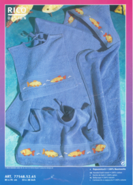 Borduurpakket Babycape met vissen