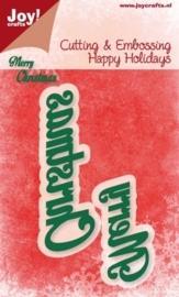 Cutting stencil - Merry Christmas