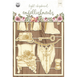 Piatek13 - Chipboard embellishments Always and forever 04 P13-ALW-46