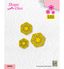 Nellie`s Choice - SD226 - Set of 3 Flowers-5