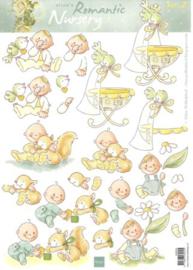 Marianne D 3D Knipvellen AK0054 Eline romantic nursery 2 / baby