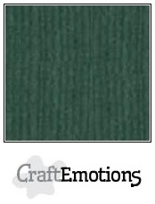 CraftEmotions linnenkarton smaragdgroen 30,5x30,5cm