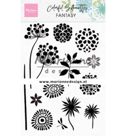 Marianne D Stempel - CS1047 - Colorful Silhouette - Fantasy