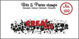 Crealies Clearstamp Bits & Pieces grunge cirkels (langwerpig) CLBP169 21 x 74mm
