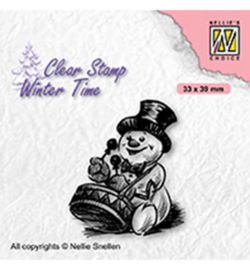 Nellie`s Choice - WT007 - Snowman with drum