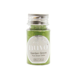 Nuvo Pure sheen glitter - garden grove 35ml bottle 1112N