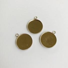 Hanger met 1 oog rond 20mm zetting (voor epoxy) 3 st 12332-3220 (platinum)
