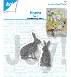 Joy! Crafts - 6002/1484 - Snij-debosstencils - Hazen