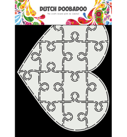 Dutch Doobadoo - 470.713.847 - Card Art Puzzel hart