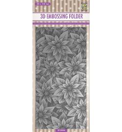 Nellie`s Choice - EF3D034 - Slimline size, Poinsettia