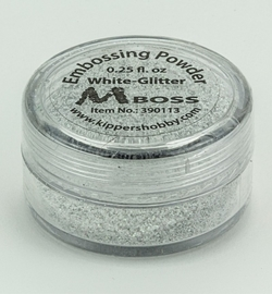 Embossing powder - White-Glitter(Special Silver)