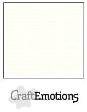 CraftEmotions linnenkarton - gebroken wit LHC-04 A4 250gr