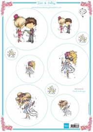Card Topper Don & Daisy - Let`s party - DDK3215