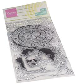 Marianne D - MM1642 - Art stamps Together forever
